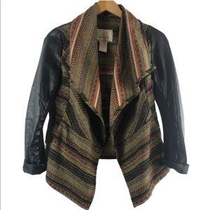 BKE outerwear jacket XS tribal print multicolor